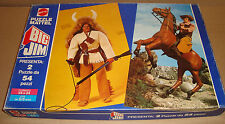 BIG JIM 2 PUZZLE 54 PZ BIG JIM WITH OURAGAN + BISONTE NERO. - MATTEL