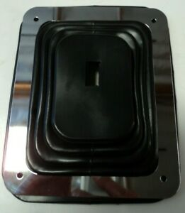 """Hurst Rubber Shifter Boot With Chrome Plate 5 5/8"""" X 6 3/4"""" Manual Automatic 350"""