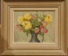 Tableau Bouquet de roses fleurs signé Ch Gutknecht Nice 1950