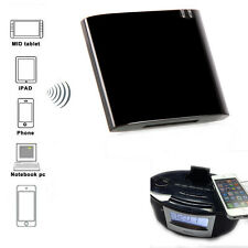 Wireless Bluetooth Music Receiver Adapter for 30pin Dock iPod Speaker Black