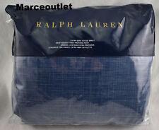 Ralph Lauren Artisan Loft Laight QUEEN Fitted Sheet Dark Blue