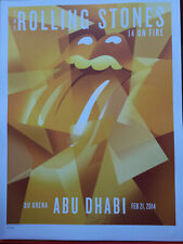 Rolling Stones 14 on Fire Poster Lithograph Abu Dhabi no filter