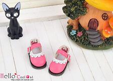 ☆╮Cool Cat╭☆【08-08】Blythe/Pullip Mini Shoes # Deep Pink