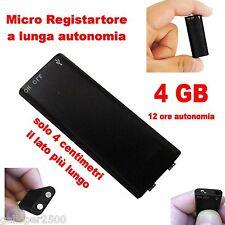 MICRO REGISTRATORE SPY VOCALE 4 GB SPIA AMBIENTALE USB VOICE RECORDER 12 ore