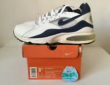 Nike Air Max 93 Leather 2003 White Midnight Navy 8,5 us 7,5 42 eu 306551-141 NEW