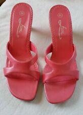 Vintage Fioni Women's Shoes Heels Sandals Pink Rose Tango 8.5