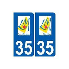 35 La Mézière logo autocollant plaque stickers ville arrondis