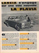 1960 ARTICLE DE PRESSE 5 PAGES AUTOMOBILE LANCIA FLAVIA