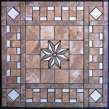 "21 1/2"" Ceramic Tile Medallion - Daltile's Stratford Place, floor or wall"