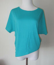 """NWT $65 PUMA by HUSSEIN CHALAYAN TEAL """"SLOPE"""" YOGA CASUAL T- SHIRT TOP S"""