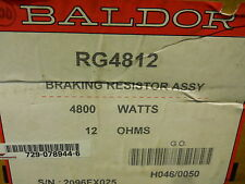 BALDOR RG4812 BRAKING RESISTOR ASSEMBLY 4800WATTS 12 OHMS NEW CONDITION IN BOX