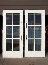 Set of painted metal clad double doors (Mc 3)