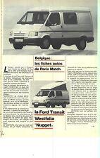 "PUBLICITE ADVERTISING  2002   FORD TRANSIT  WESTFALIA  ""NUGGET"""