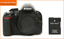 Nikon D3100 Digital 14MP SLR Camera Corpo, Batteria 5448 scatti GRATIS UK PP