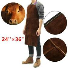Welding Apron Cowhide Leather Welder Protective Gear Heat Insulation 24' x 36'