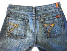 RARE 7 Seven For All Mankind Womens Tag 31 actual 33 X 34 Dojo Flare Jeans  $189