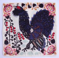 Klaus Haapaniemi Linen Cotton Cushion Cover Cockerel Rooster Chicken Floral