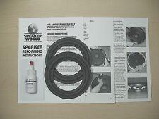 "JBL 2-6""- 6.5"" Woofer Speaker Re- Foam Repair Kit For JBL-J620 USA"