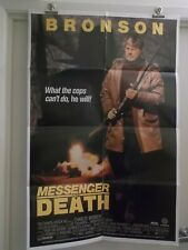 MESSENGER of DEATH one 1 sheet Movie Poster CHARLES BRONSON  1988 Original
