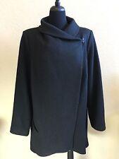 Lane Bryant Wool Cowl Neck Cape Coat Size 22 24 Asymmetric