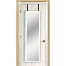 Over Door Mirror White full length home wall rectangle dressing Contemporary New