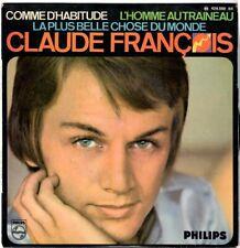 CLAUDE FRANÇOIS N°1 Comme d'habitude 1968 My way Imprimerie JAT Disques Flèche