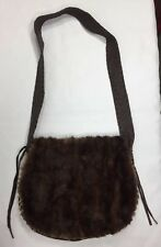 Shelly Litvak Authentic Gorgeous Brown Deerskin REAL FUR Shoulder Bag $1695 RARE