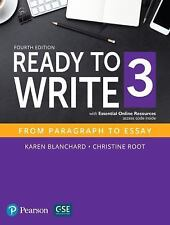 Ready to Write 3 by Karen Blanchard and Christine Root (2016, Paperback, New...