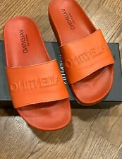 """Women's Authentic valentino by Mario """"samantha"""" Slides Red US 8"""