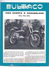 1966 Bultaco Sherpa S 125/175/200 factory original sales brochure(Reprint) $7.50