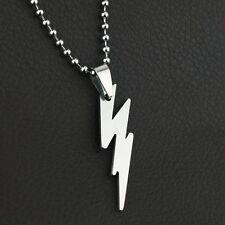 The Flash Necklace Silver Pendant 1pc Titanium Steel Hot Charming