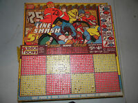 Punchboard Line smash Football Punchboard die cut 1 of a kind  Vintage and Rare