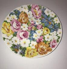 "ROY KIRKHAM Petite Fleur Fine Bone China 7"" Deep Saucer Made in England 1993"