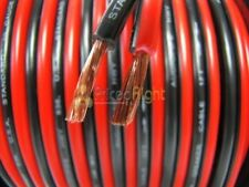 50 Ft 16 Gauge Speaker Cable Car Home Audio 50' Black Red Zip Power Ground Wire