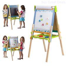 ECR4Kids Art Easel, 3 In 1 Foldable Magnetic & Chalkboard Kids Board - New