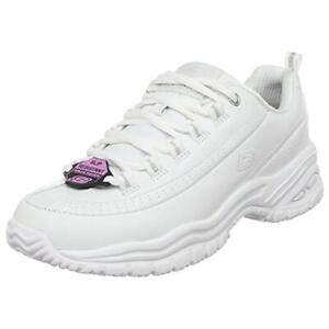 Skechers Womens Soft Stride-Softie White Casual Shoes 9.5 Medium (B,M) BHFO 8224