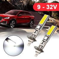2x H1 Xenon White 6000K 20W COB LED SMD Driving Fog Beam Head Lights Bulbs DRL