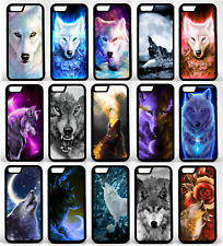 Wolf Phone Case Cover Fits Apple iPhone 4 se 5 7 8 x xs dog art drawing howling