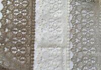 Quality Lace Trim 9 cm wide grey off white beige  art lace 1 yard