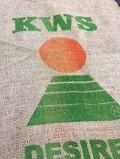Vintage de Hesse de pommes de terre Sacs x5-KWS ORANGE SOLEIL MARQUE!!! Jute, petit sac en jute