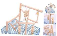 Qbleev Bird Cage Play Stand Toy Set-Birdcage Wood Stands Hanging Chew Toys Ladde
