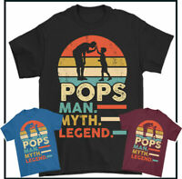 Super Dad Circle Superdad Daddy Fathers Day Gift Present Idea Pops Mens T-shirt