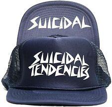 DOGTOWN dei pattini-X SUICIDAL Mesh FLIP TENDENCIES Cap-Blu Scuro-Surf Skate THRASH