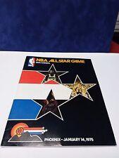 1975 NBA BASKETBALL ALL-STAR GAME PROGRAM - KAREEM, GOODRICH, HAVLICEK, FRAZIER