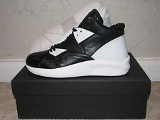 Article Number Leather & TPR High Top Sneaker Black/White Mens Size 8.5 DS NEW!