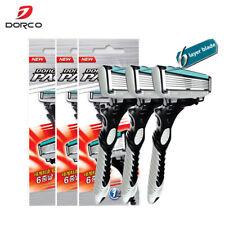 New Good Quality Dorco Razor Men 3 Pcs/lot 6-Layer Blades Razor for Men Shaving