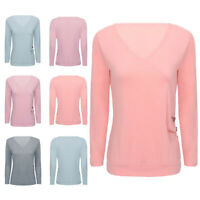 Women's Casual Long Sleeve V Neck Fall T Shirts Loose Fit Tunic Blouse Wrap Tops