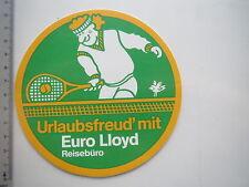 Aufkleber Sticker Euro Lloyd - Reisebüro - Tennis (M1540)
