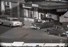 1940-50s Hertz Rent-A-Car Store Front and Garage - Vintage 35mm Negative