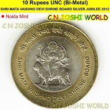 SHRI MATA VAISHNO DEVI SHRINE BOARD SILVER JUBILEE Rs 10 UNC 1 Coin+Coin Capsule